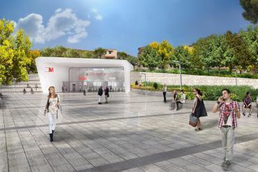 Metro Napoli line M7 - Via Terracina Station